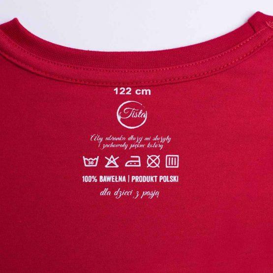 T-shirt w czerwieni