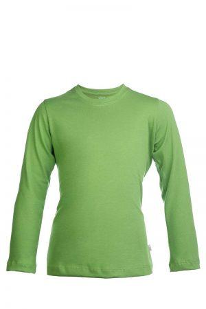 Zielona bawełaniana koszulka z długim rękawem