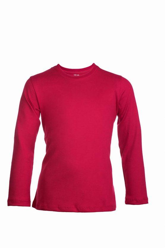 Czerowna bawełaniana koszulka z długim rękawem