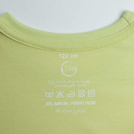 Limonkowa koszulka z metką
