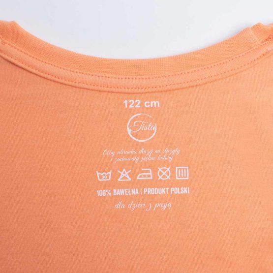 Metka łososiowej koszulki bawełnianej