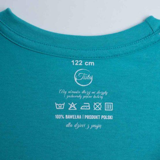 Metka niebieskiej koszulki