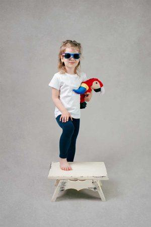 Dziewczęca biała koszulka T-Shirt
