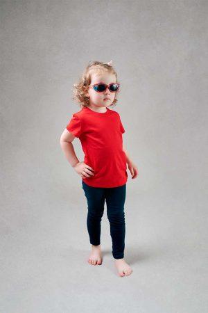 Dziewczęca czerwona koszulka z krótkim rękawem T-Shirt