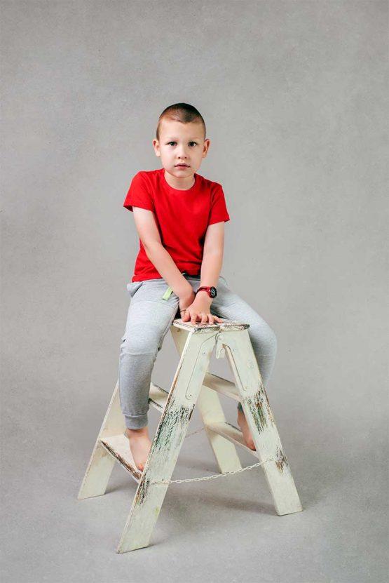 Chłopięca czerwona koszulka z krótkim rękawem T-Shirt