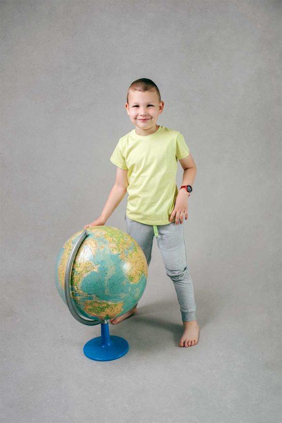 Chłopięca limonkowa koszulka z krótkim rękawem T-Shirt